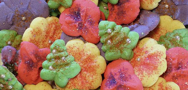 Colorful Spritz Cookies
