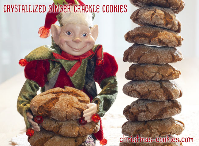 Crystallized Ginger Crackle Cookies