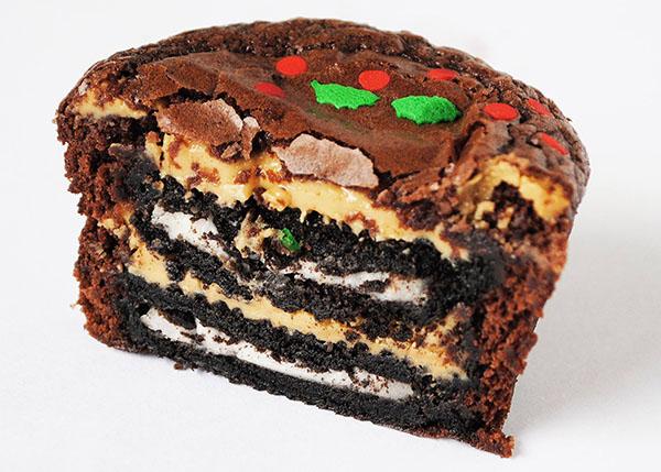 Peanut Butter Oreo Brownie Cupcakes
