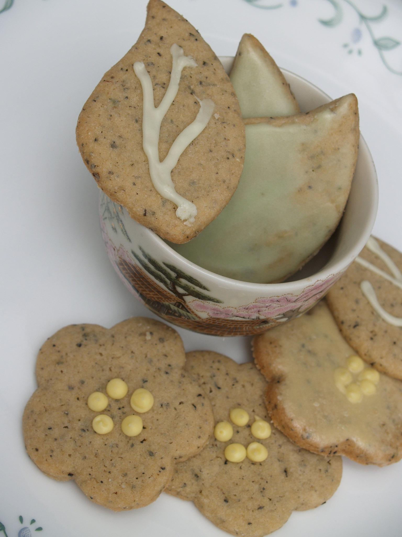 Green Tea Icebox Cookies