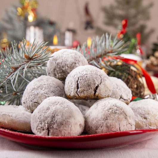 Nut-Filled Chocolate Snowballs