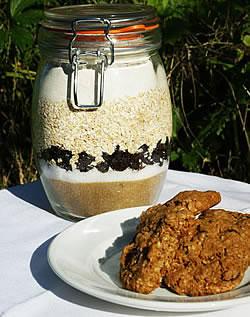 Oatmeal Raisin Spice Cookies in a Jar
