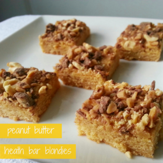 Peanut Butter Heath Bar Blondies