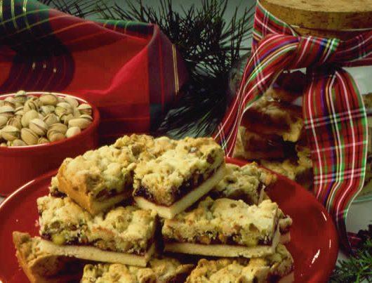 Pistachio Christmas Ribbon Bars