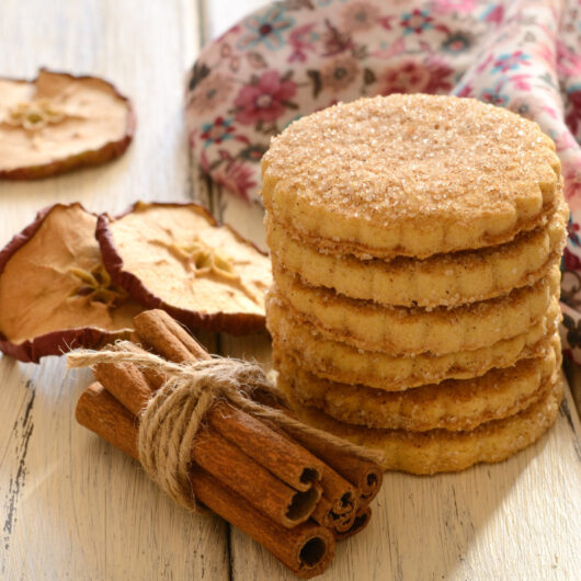 Apple Cider Cutout Cookies with Cinnamon Sugar